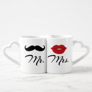 Mug Set de Sr. y de señora Lovers' Taza Amorosa