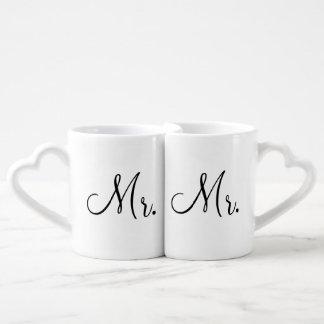 Mug Set de Sr. y de Sr. Lovers' Taza Para Enamorados