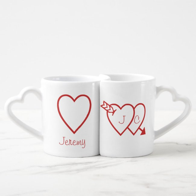 Mug Set - Love Hearts