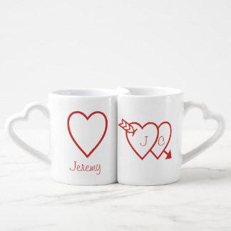 Mug Set - Love Hearts (v.2)