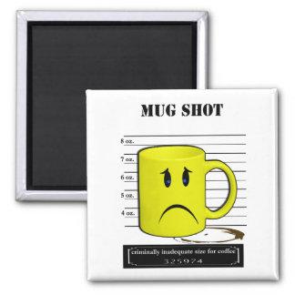 Mug Shot Coffee Mug Cup Cartoon Meme 2 Inch Square Magnet