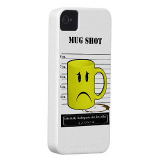 Mug Shot Coffee Mug Cup Cartoon Meme iPhone 4 Case-Mate Case