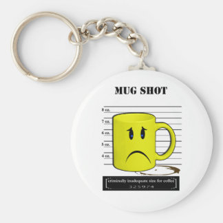 Mug Shot Coffee Mug Cup Cartoon Meme Keychain