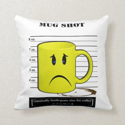 Mug Shot Coffee Mug Cup Cartoon Meme Pillows
