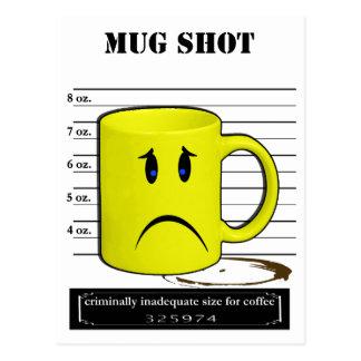 Mug Shot Coffee Mug Cup Cartoon Meme Postcard