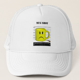 Mug Shot Coffee Mug Cup Cartoon Meme Trucker Hat