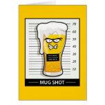 Mug Shot Greeting Card