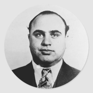 Mug Shot of Chicago Gangster Alphonse Capone 1931 Classic Round Sticker