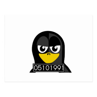 Mug Shot Penguin Postcard