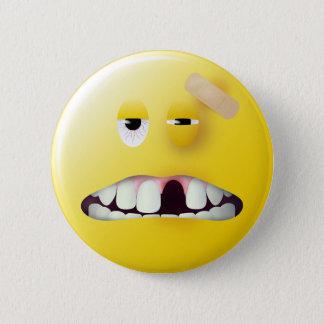 Mug Shot Smiley Face Button