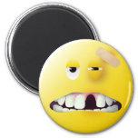 Mug Shot Smiley Face Fridge Magnets