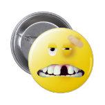 Mug Shot Smiley Face Pin
