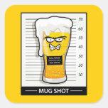 Mug Shot Square Sticker