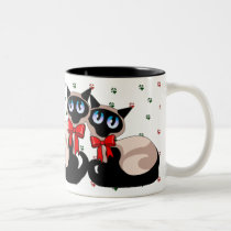 Mug - Siamese Cat Christmas