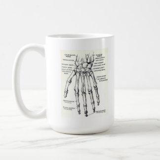 MUG: Skeleton Hand/Anatomy Coffee Mug