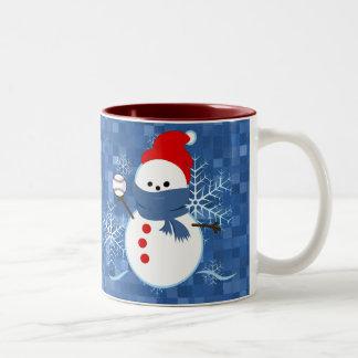 Mug - Snowflakes Baseball Snowman