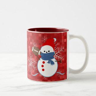 Mug - Snowflakes Football Snowman