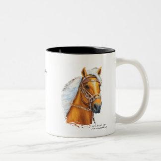 Mug, Solid Gold!, Palomino Peruvian Horse Two-Tone Coffee Mug