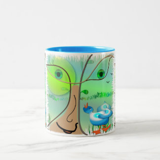 "Mug  ""Spring in the forest"""""
