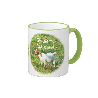 Mug Stubborn But Cute Goat Photo