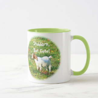 "Mug""Stubborn But Cute"" (Goat Photo) Mug"