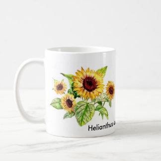 Mug, Sunflower Bouquet Drawing