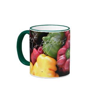 Mug, Sweet peppers Ringer Coffee Mug