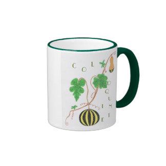 mug tasse coloquinte peinture florale artisanale
