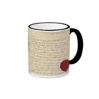 Mug, Taza barroca carta sello de cera