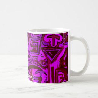 Mug / Taza magenta symbols