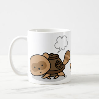 Mug - TeaKettle Tanuki with his small friends