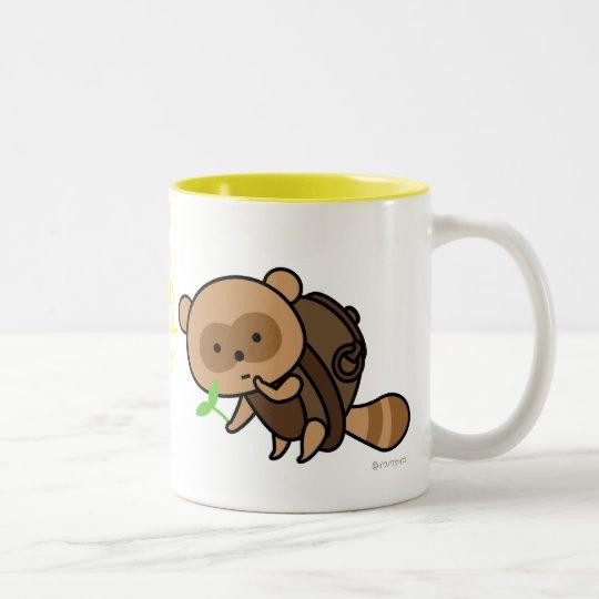 Mug - TeaKettle Tanuki with Leaves