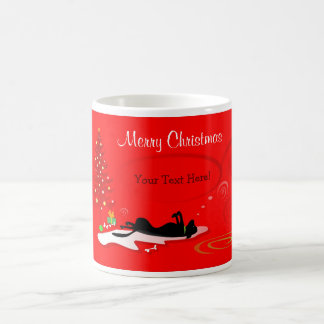 Mug (Template)  - Black Lab Christmas