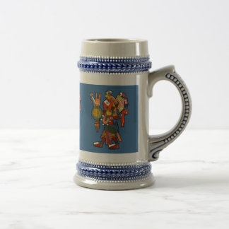 Mug the cheerful company of the indian Maya warrio