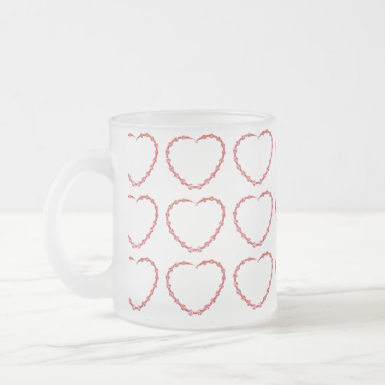 Mug - Three rows of Beaded Red Heart