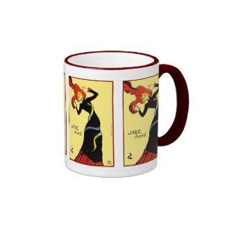 Mug: Toulouse Lautrec - Jane Avril Ringer Mug