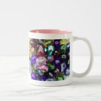 Mug, Treasure # 2, pink interior Two-Tone Coffee Mug