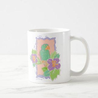 MUG ~ Tropical Bird in Pastels
