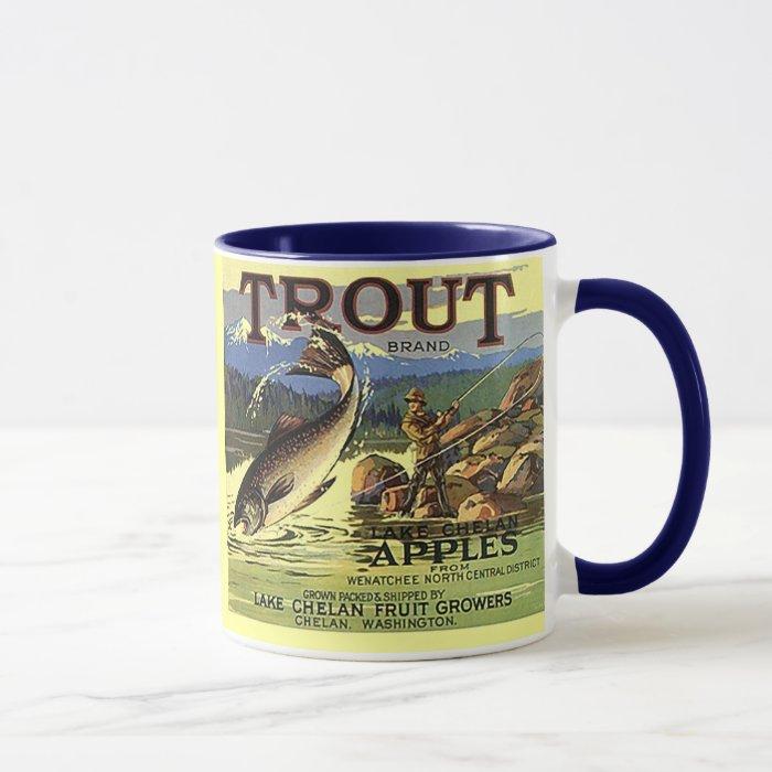 mug trout brand vintage apple crate label zazzle