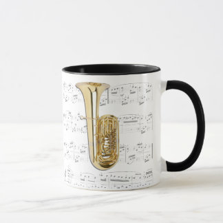 Mug - Tuba with sheet music