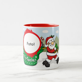 "Mug two Present tones ""of Papa Noel """