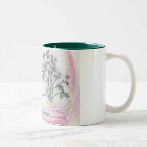 mug - two tone botanical print
