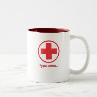 MUG-Type ahhh.ai Two-Tone Coffee Mug