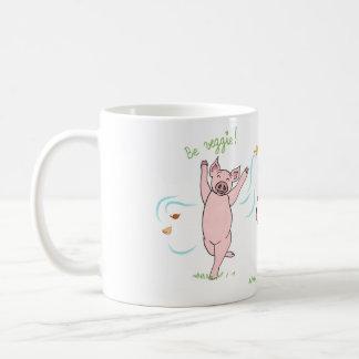 Mug vegan, pig, cow and sheep: Be veggie!