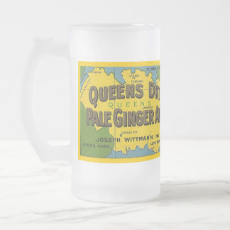 MUG ~ Vintage Advertising Label Queens Ginger Ale