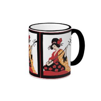 Mug Vintage Art Geisha & Shamisen