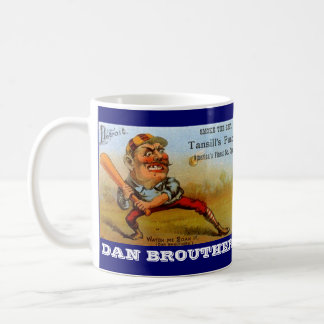 MUG VINTAGE CIGAR ADVERTISING BASEBALL CARICATURES