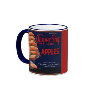 MUG ~ VINTAGE CLIPPER SHIP APPLE CRATE LABEL!