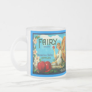 MUG VINTAGE FAIRY APPLE CRATE LABEL FRUIT SMOOTHIE