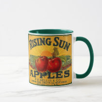 MUG ~ VINTAGE RISING SUN BRAND APPLE CRATE LABEL!